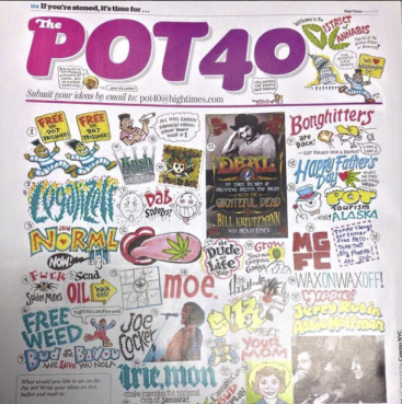 "HIGH TIMES MAGAZINE ""POT 40"""